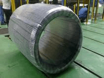 wire roll stretch wrapping machine