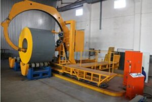 master coil wrapping machine packing wide steel and wire coils