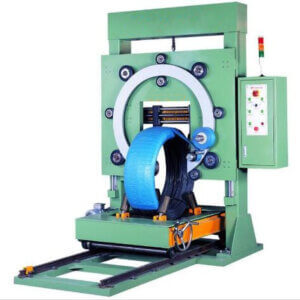 wire coil stretch wrapping machine