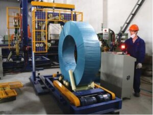 steel and wire coil wrapping machine