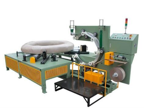 stranded cable and wire coil wrapping machine