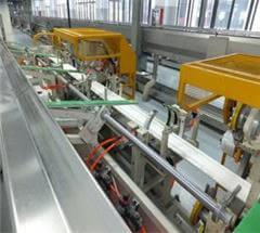 automatic PVC pipe bundle packing line integrated with pipe extrusion line