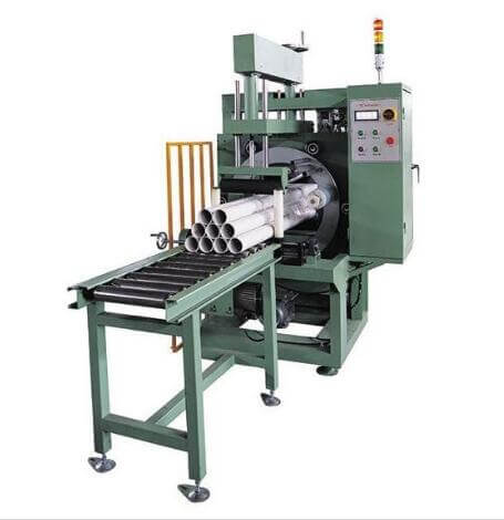 orbital stretch wrapping machine for tube packaging