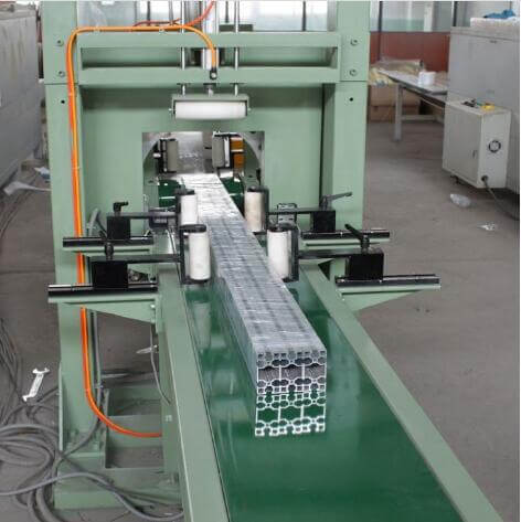 Aluminum profile bundles packaging machine