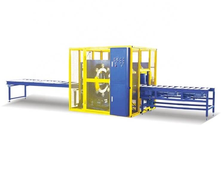 orbital wood material wrapping machine