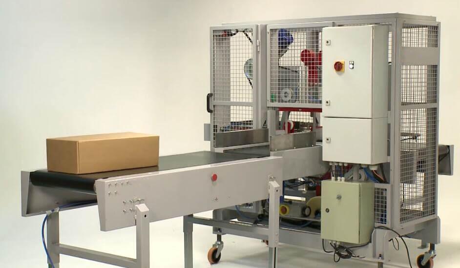 orbital adhesive tape carton sealing and wrapping packaging machine